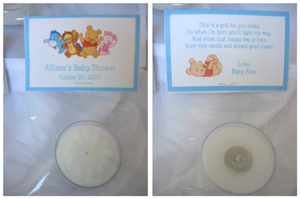 Mickey Amp Minnie Baby Shower Tea Light Candle Favors Ebay