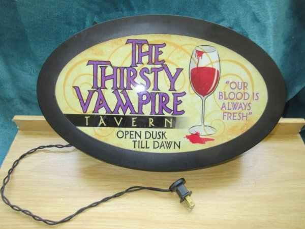 Thirsty Vampire Tavern Electric Sign Game Room Rec Room New