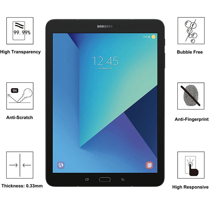 Premium Tempered Glass Screen Protector for Samsung Galaxy Tab S3 S2 T817 T820