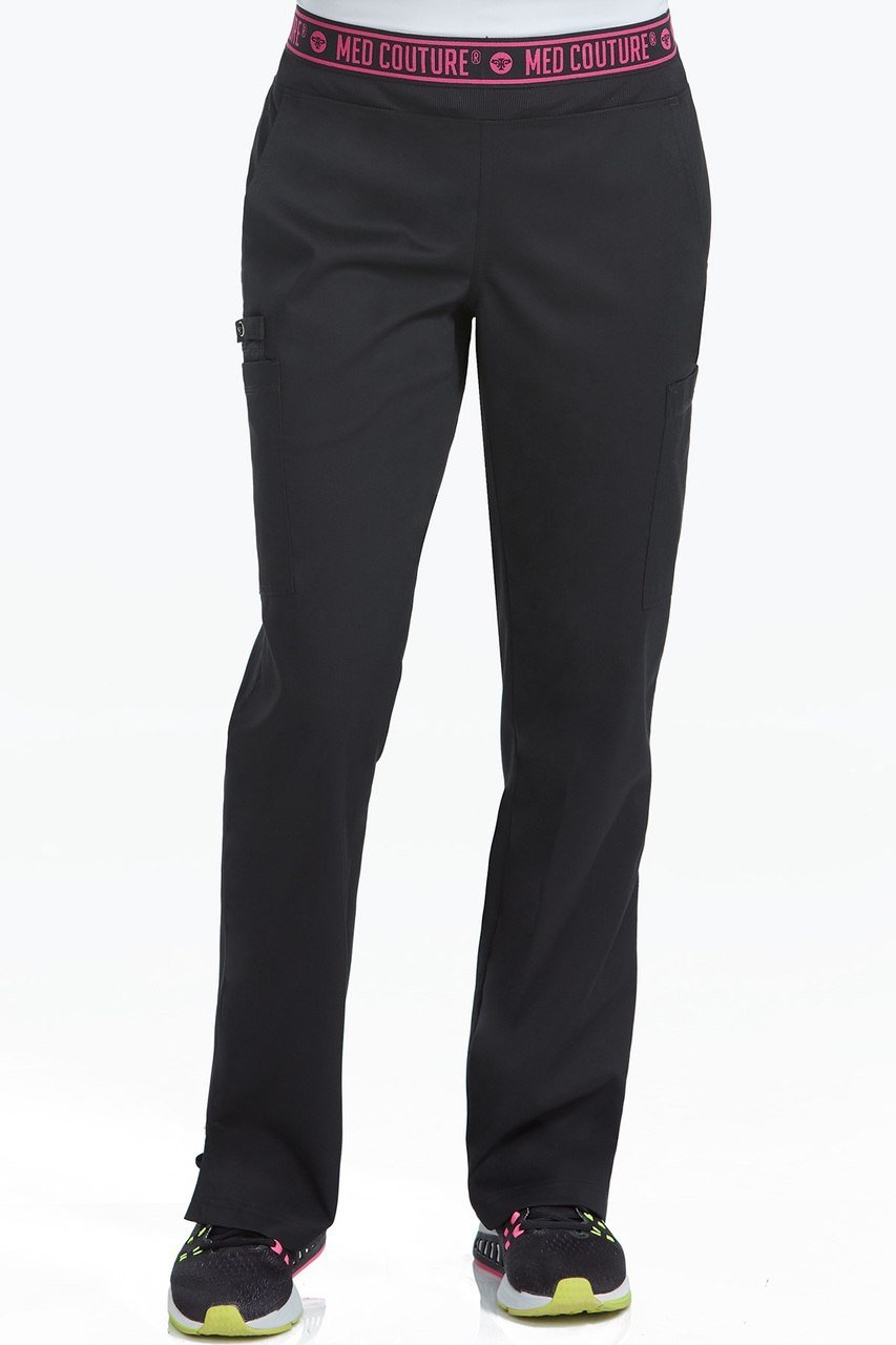 c8b35c87d83b0 Details about Med Couture Performance Touch 2 Cargo Yoga Black Pant Style  7739 Sz XS-XXL