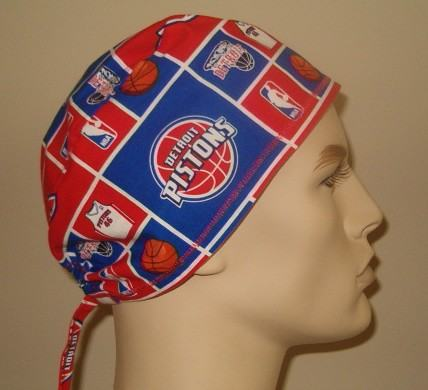 Detroit Pistons NBA Vintage Fabric Scrub Hats