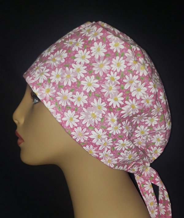 Pretty Pink Daisey's Tie Back