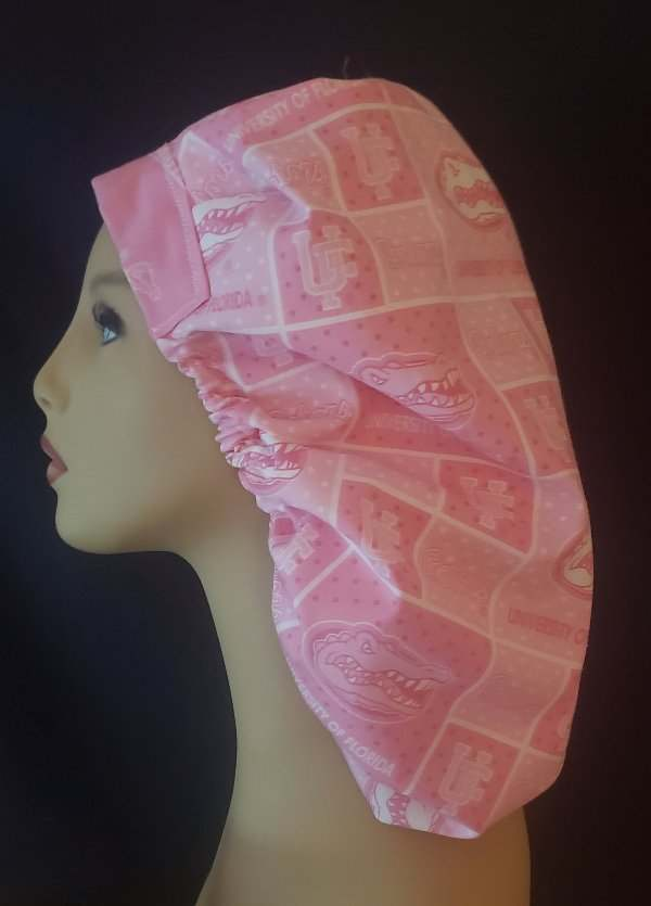 University Of Florida Pink Bouffant Scrub Hat
