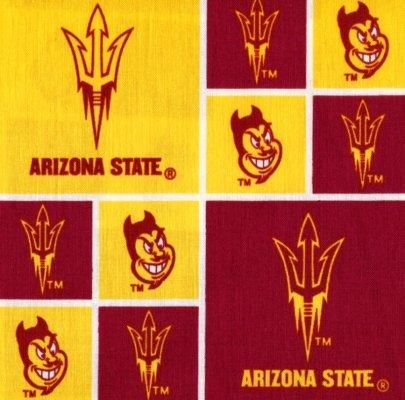 Arizona Sun Devils Tie Back Style Out of Print Fabric