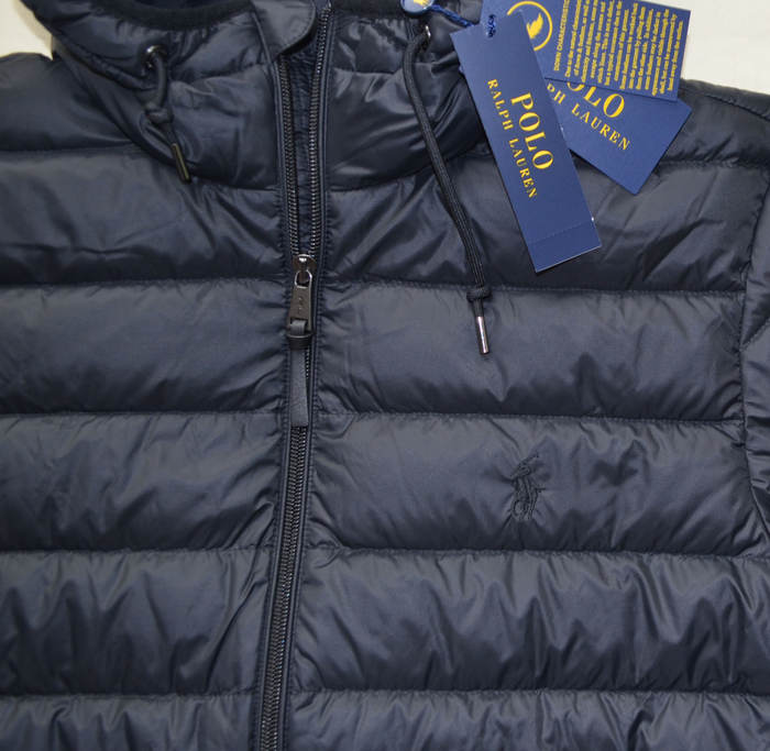Détails sur Neuf XXL 2XL Polo Ralph Lauren Hommes Compressible Doudoune Bas Trek Veste Noir
