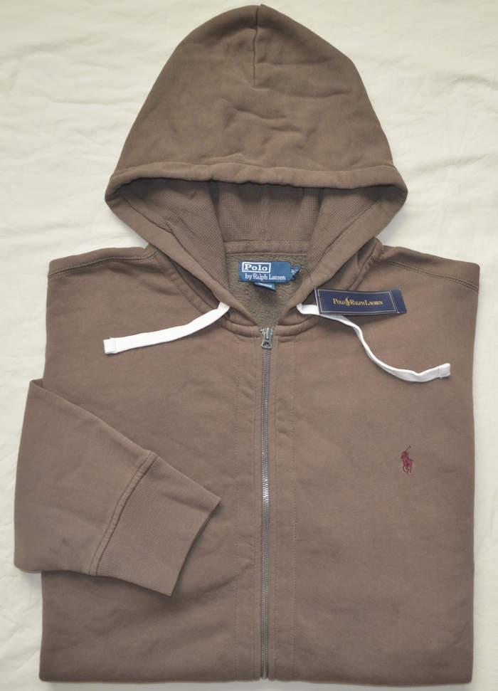 NWT Ralph Lauren Men/'s Cotton Fleece Hoodie Big Pony Zip Up Jacket L XL 2XL NEW