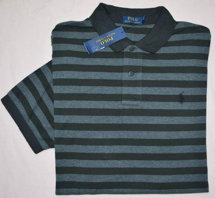 818fac10 Details about New Large L polo RALPH LAUREN Mens classic fit mesh polo shirt  gray top grey RL