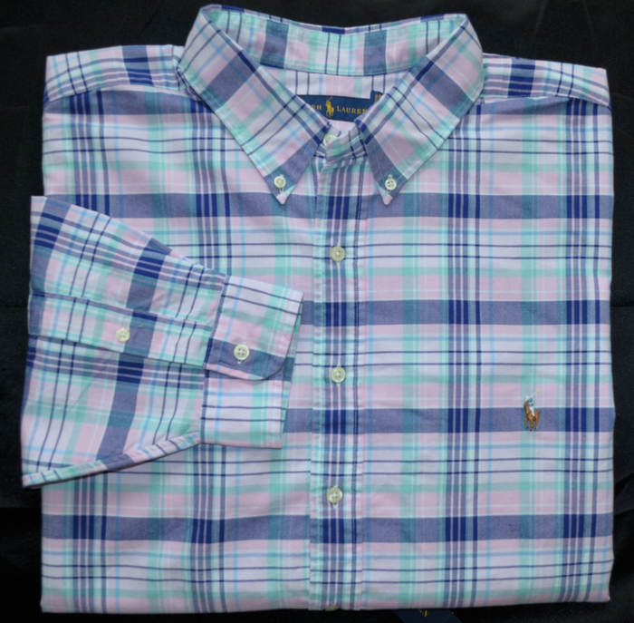 9f868792 Details about New 2XB 2XL BIG 2X POLO RALPH LAUREN Mens long sleeve oxford  shirt pink blue top