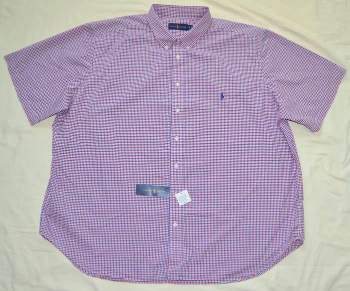 New 2xlt 2xl tall 2xt polo ralph lauren mens short sleeve for Mens tall button down shirts