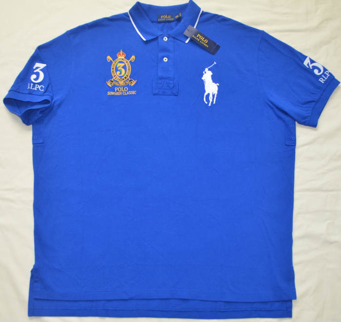 New 4xlt 4xl tall polo ralph lauren mens big pony rugby for Big and tall polo rugby shirts